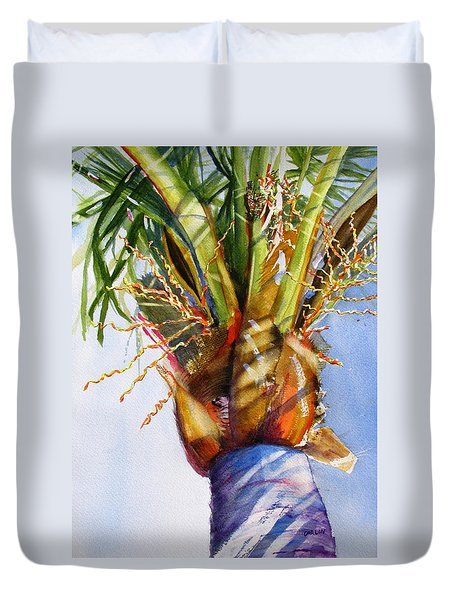 Shady Palm Tree Duvet Cover
