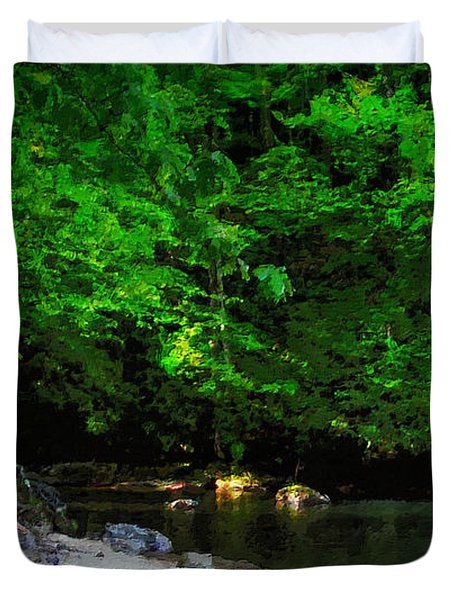 Shall We Gather At The River Duvet Cover by Lianne Schneider