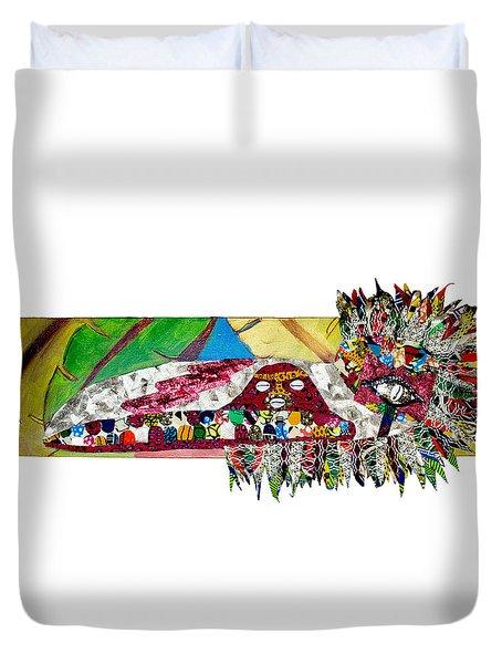 Shango Firebird Duvet Cover by Apanaki Temitayo M