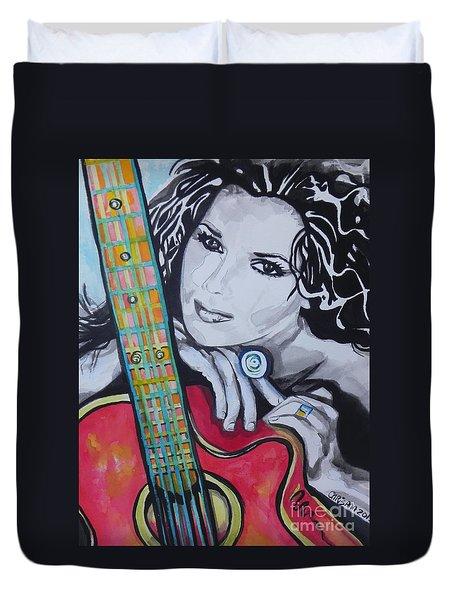 Shania Twain Duvet Cover
