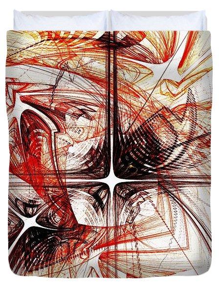Shapes And Symbols Duvet Cover by Anastasiya Malakhova