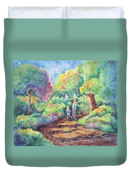 Sharing The Journey Duvet Cover by Michael Bulloch