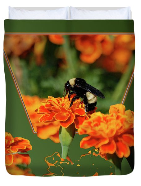 Duvet Cover featuring the photograph Sharing The Nectar Of Life by Thomas Woolworth