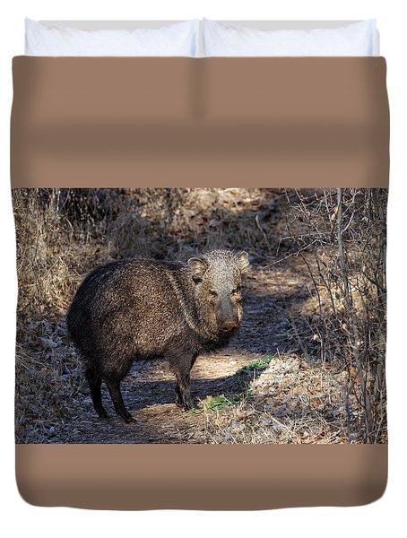 Sharing The Trail Duvet Cover