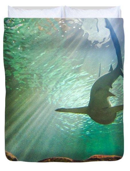 Shark Tank Duvet Cover by Bill Pevlor
