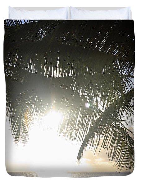 Sharks Cove Sunset Duvet Cover by Brandon Tabiolo