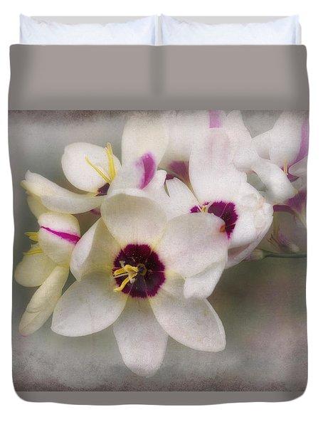 Duvet Cover featuring the photograph Sharon by Elaine Teague