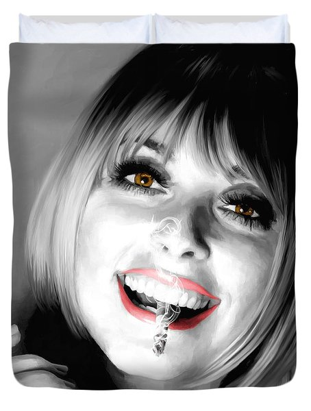 Sharon Tate Large Size Portrait Duvet Cover