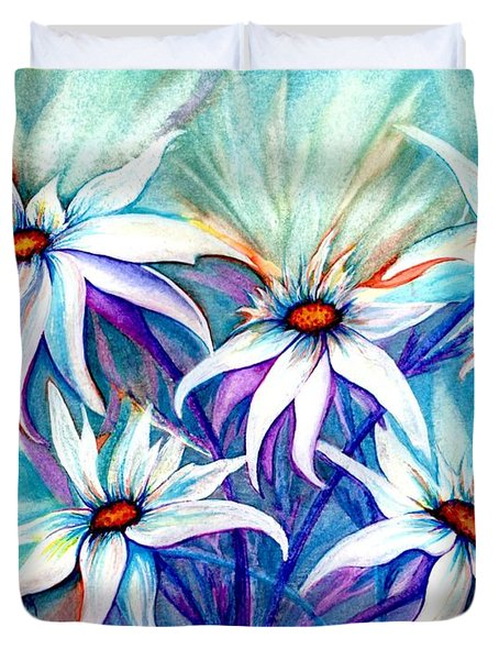 Shasta Daisy Dance Duvet Cover by Janine Riley