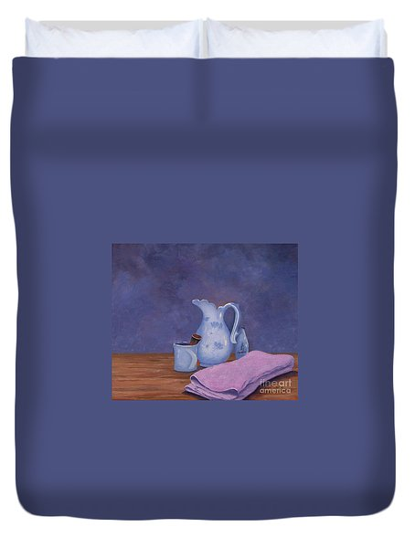 Shaving Mug Duvet Cover