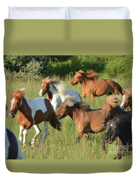 She Has Carrots Duvet Cover by Amy Porter