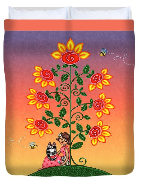 She Is Life Barnes And Noble Duvet Cover by Victoria De Almeida