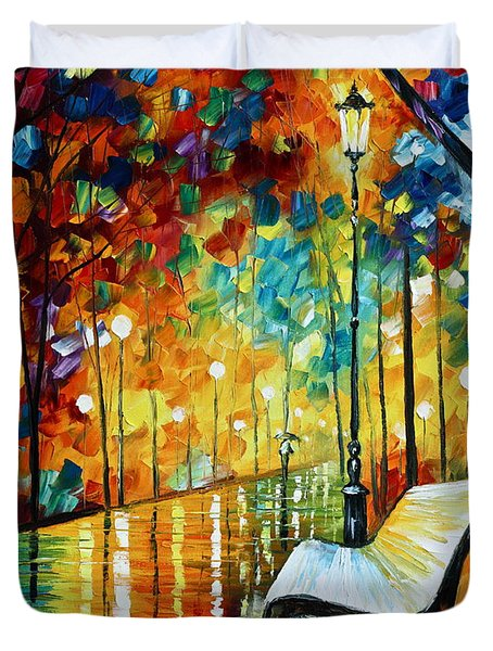 She Left.... New Version Duvet Cover by Leonid Afremov