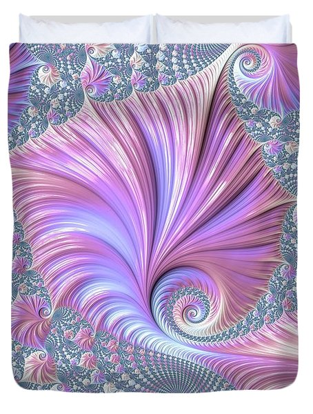 Duvet Cover featuring the digital art She Shell by Susan Maxwell Schmidt