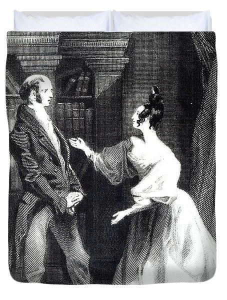 She Then Told Him What Mr Darcy Had Voluntarily Done For Lydia Duvet Cover by William Greatbach