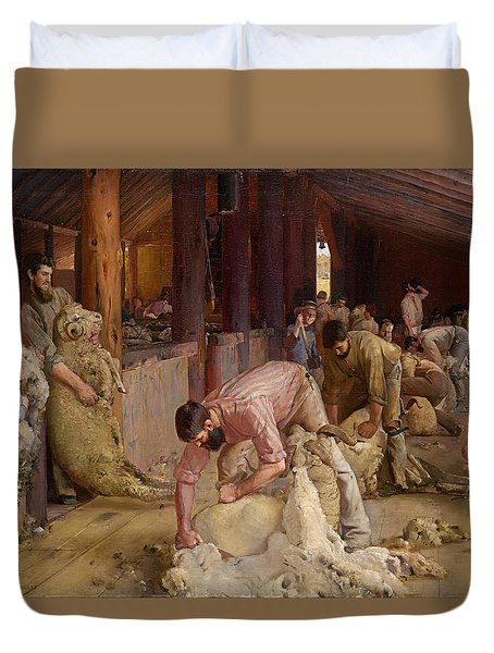 Shearing The Rams  Duvet Cover