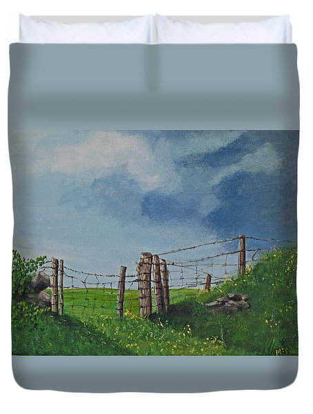 Sheep Field Duvet Cover by Barbara McDevitt