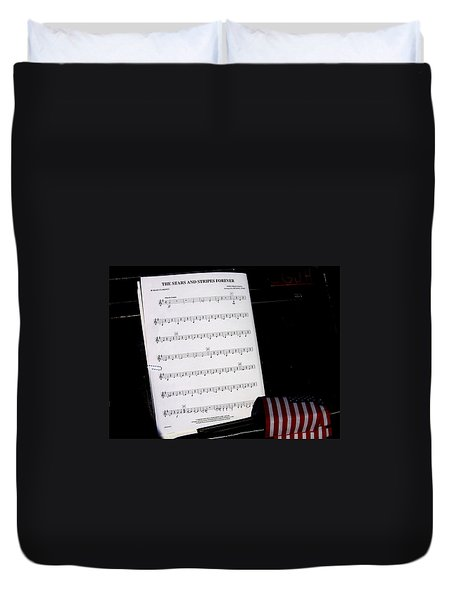 Sheet Music The Stars And Stripes Forever Music Stand Casa Grande Arizona 2004 Duvet Cover