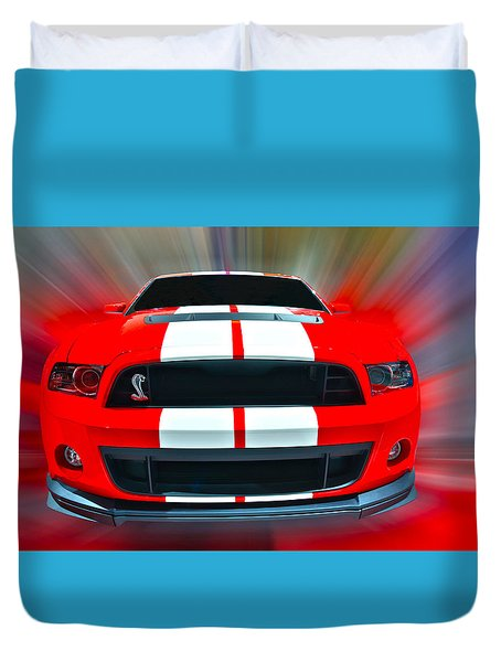 Shelby Gt 500  2013 Duvet Cover