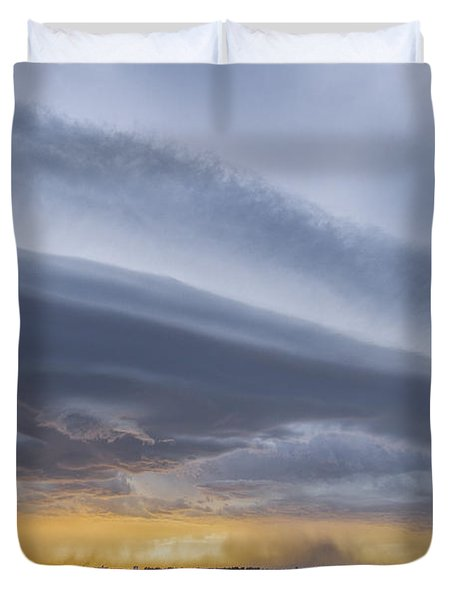 Shelf Clouds Duvet Cover