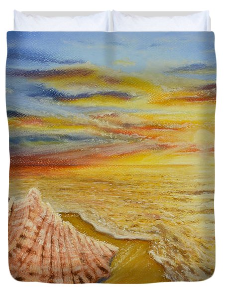 Shell At Sunset Duvet Cover