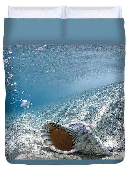 Shell Burp Duvet Cover by Sean Davey