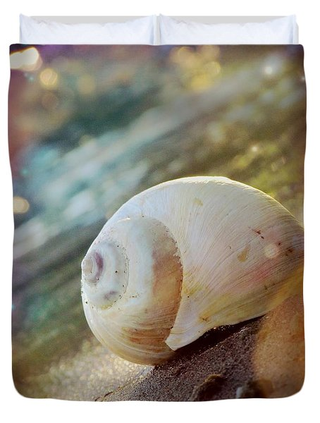 Duvet Cover featuring the photograph Shell by France Laliberte