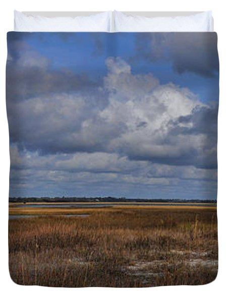 Shell Island To Figure Eight Panorama Duvet Cover