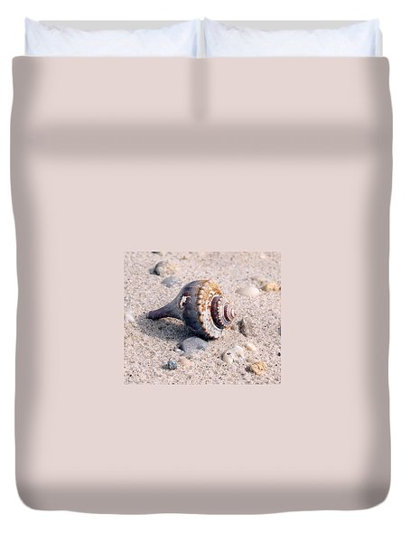 Duvet Cover featuring the photograph Shell by Karen Silvestri