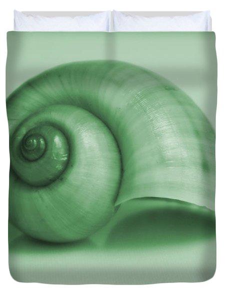 Shell. Light Green Duvet Cover