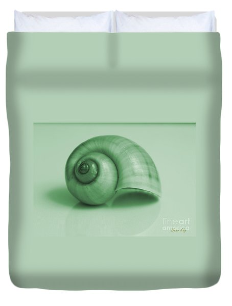 Shell. Light Green Duvet Cover