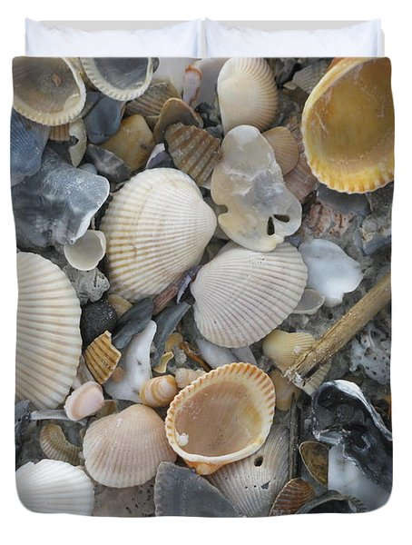 Shell Mosaic Duvet Cover by Ellen Meakin
