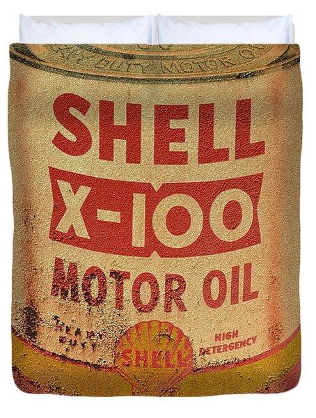 Shell Motor Oil Duvet Cover
