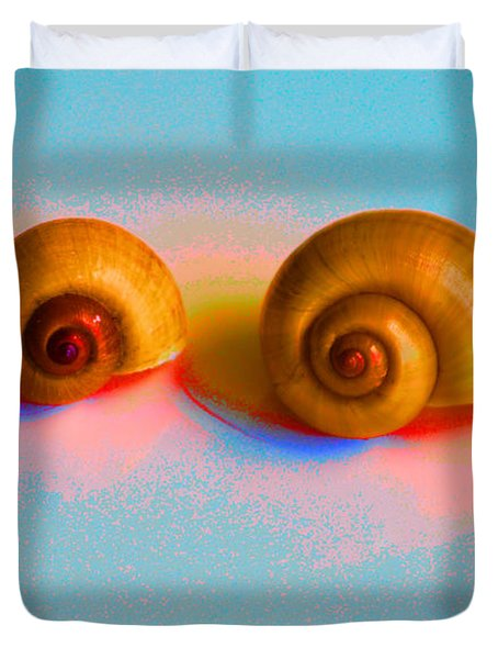 Shells In Colors Duvet Cover