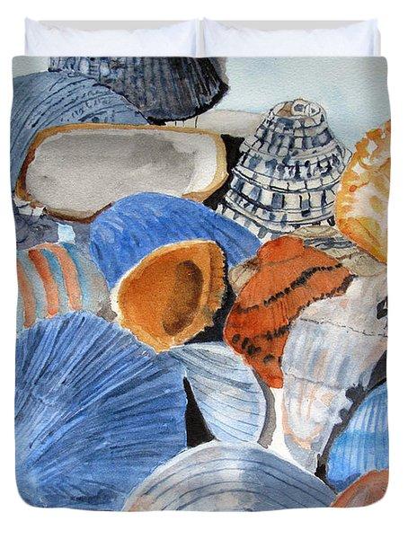 Shells On The Beach Duvet Cover