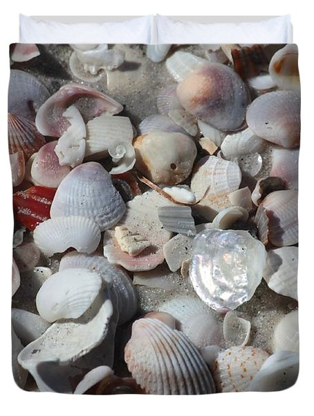 Shells On Treasure Island Duvet Cover
