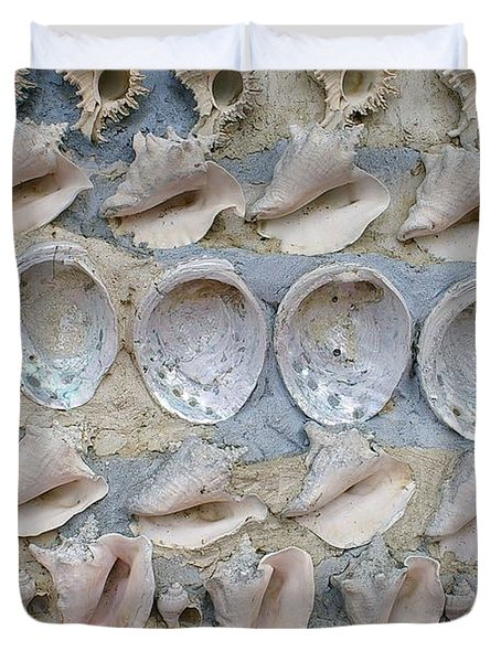 Duvet Cover featuring the photograph Shells by Randy Pollard