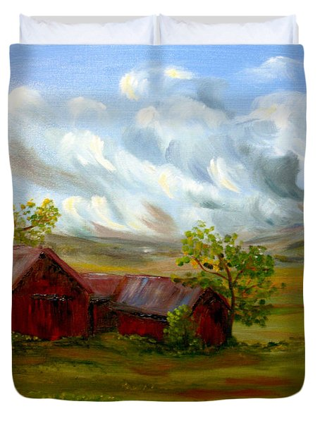 Shelter From The Storm Duvet Cover by Meaghan Troup