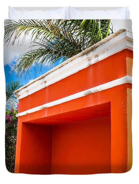 Shelter Orange Duvet Cover