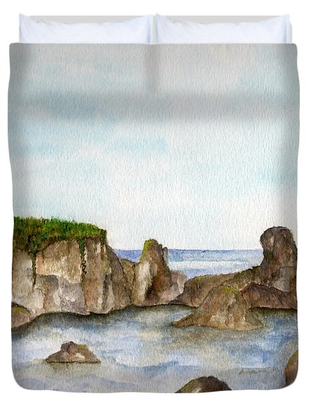 Sheltered Cove Duvet Cover by Tamyra Crossley