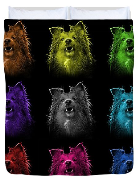 Sheltie Dog Art 0207 - Bb - M Duvet Cover by James Ahn