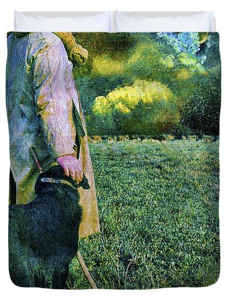 Shepherd And Moon Duvet Cover