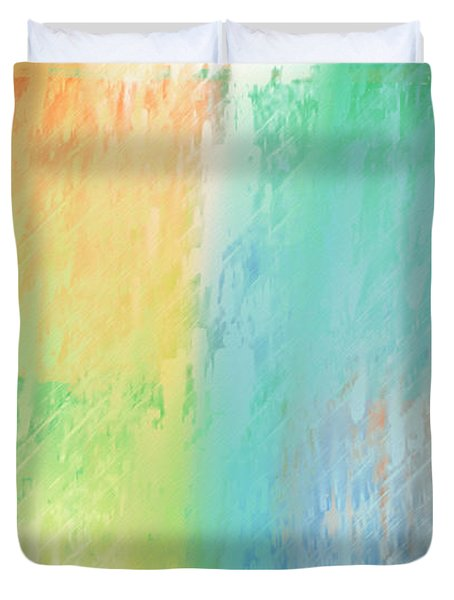 Sherbet Abstract Duvet Cover by Andee Design