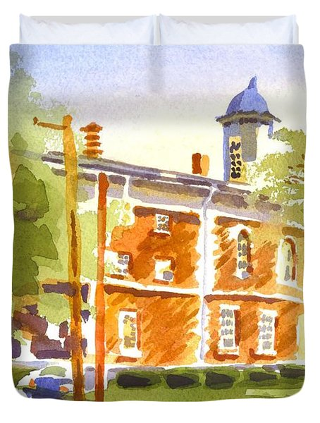 Sheriffs Residence With Courthouse II Duvet Cover