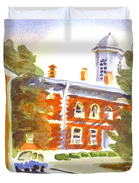 Sheriffs Residence With Courthouse Duvet Cover