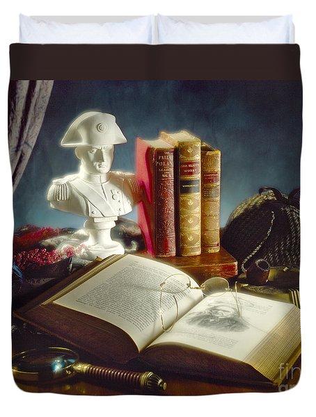 Sherlock Holmes Napoleon Duvet Cover by Martin Konopacki