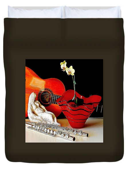 Duvet Cover featuring the photograph Sherrie's Delight by Elf Evans
