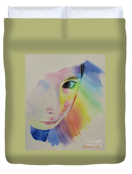 She's A Rainbow Duvet Cover