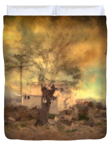 She's Like The Wind ...through My Tree Duvet Cover by Taylan Apukovska