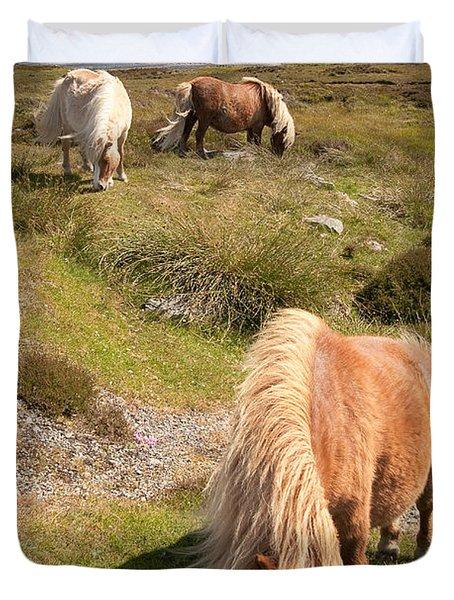 Shetland Ponies Duvet Cover